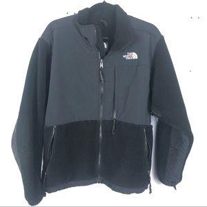THE NORTH FACE black fleece zip up jacket P30